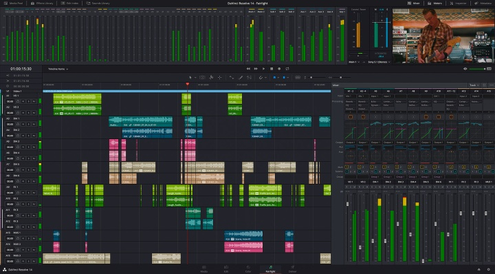 DaVinci Resolve 14 Fairlight