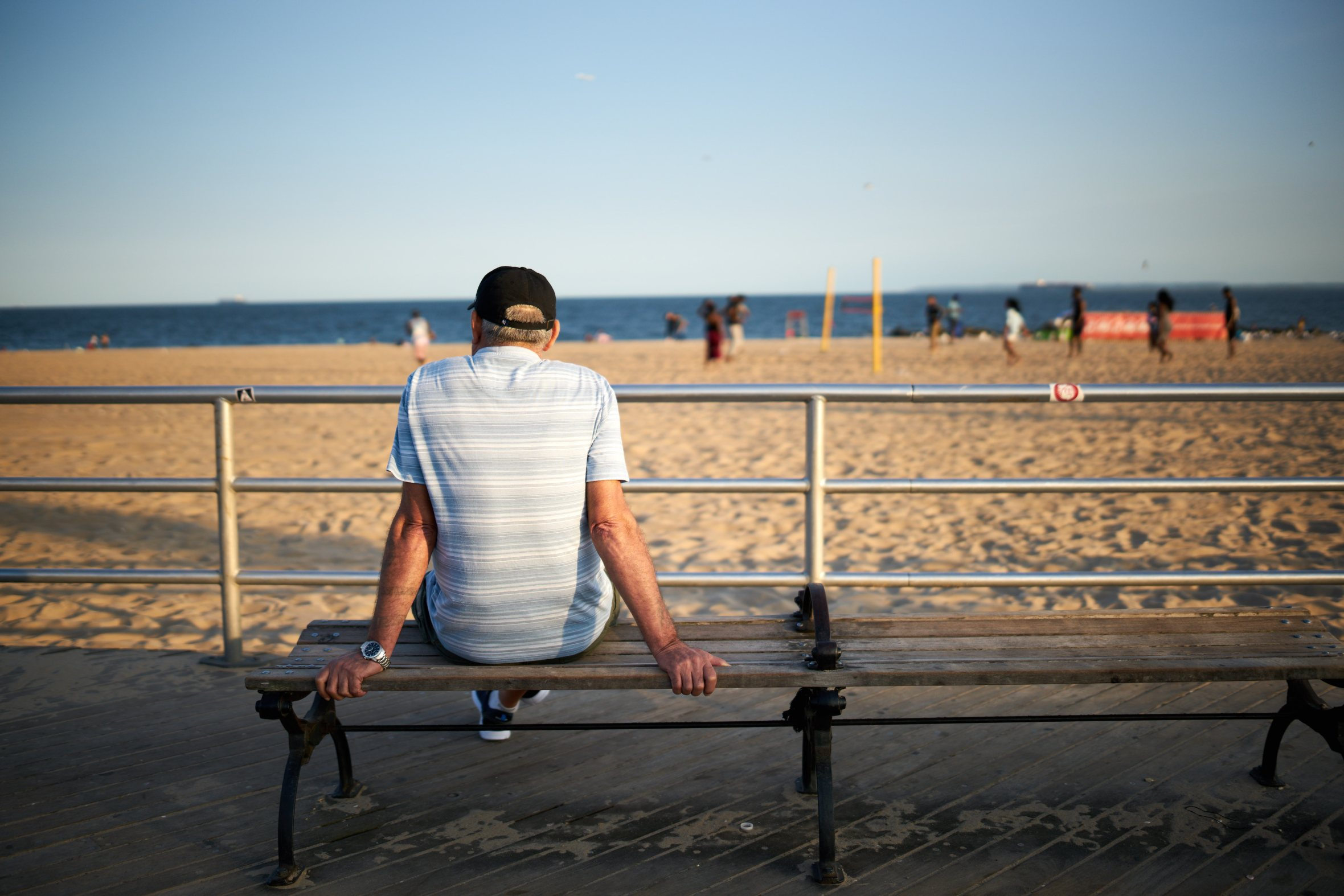 Man at Coney Island